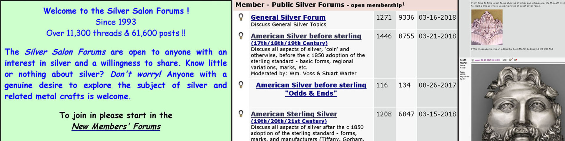 Silver Salon Forums